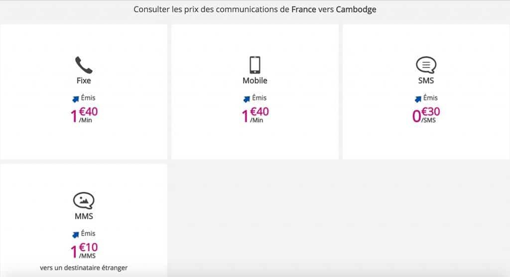 Tarifs France vers Cambodge B&Y