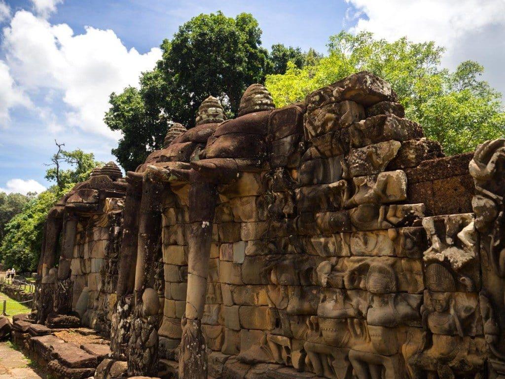 Visiter les temples d'Angkor - Terrasse des éléphants