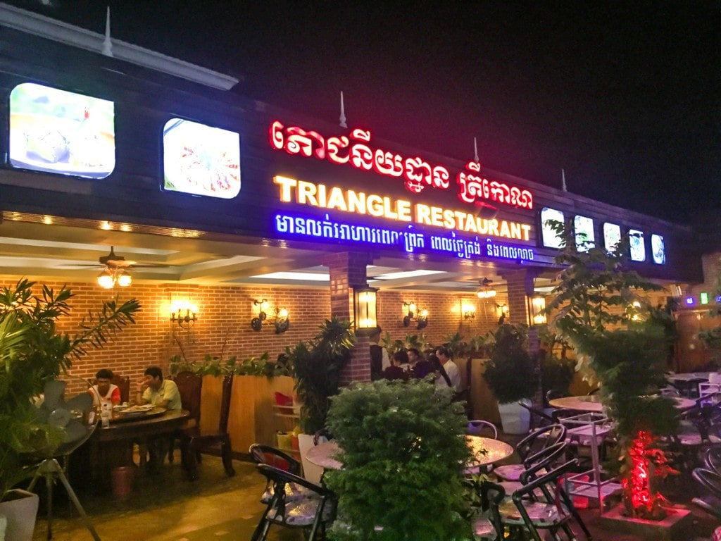Triangle restaurant Siem Reap