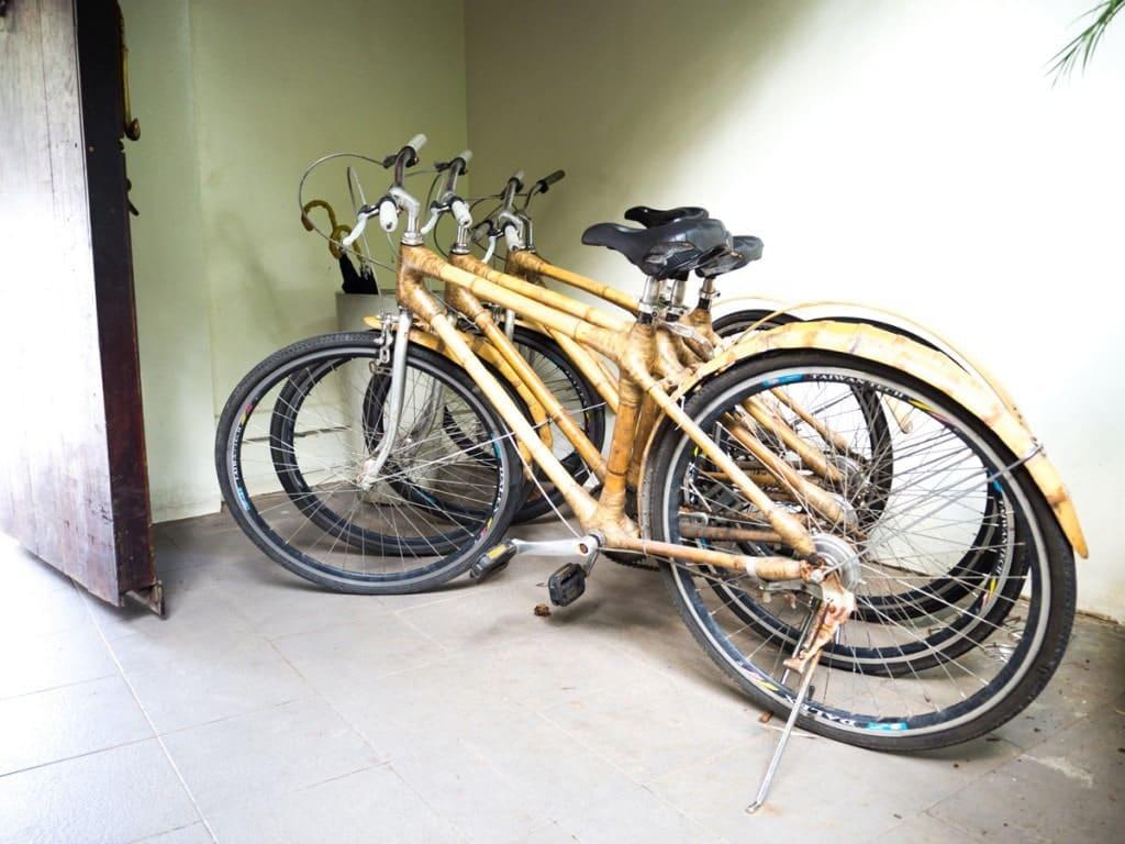 Vélos en bambou Hôtel Pavilion