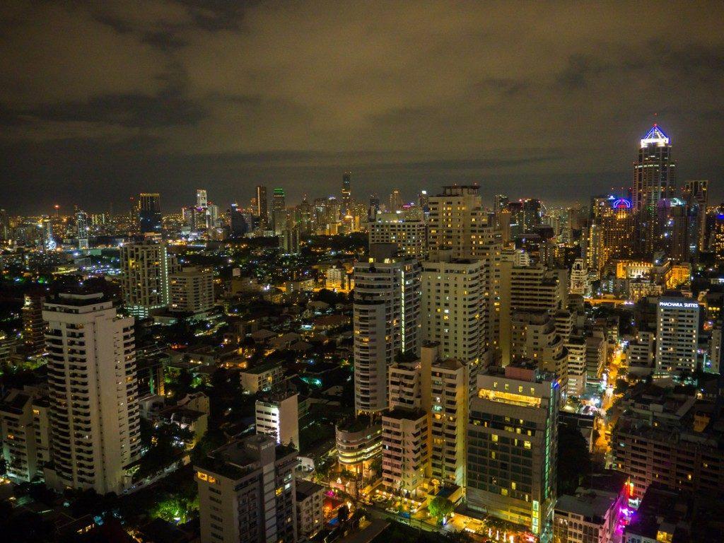 Vue sur Bangkok de nuit