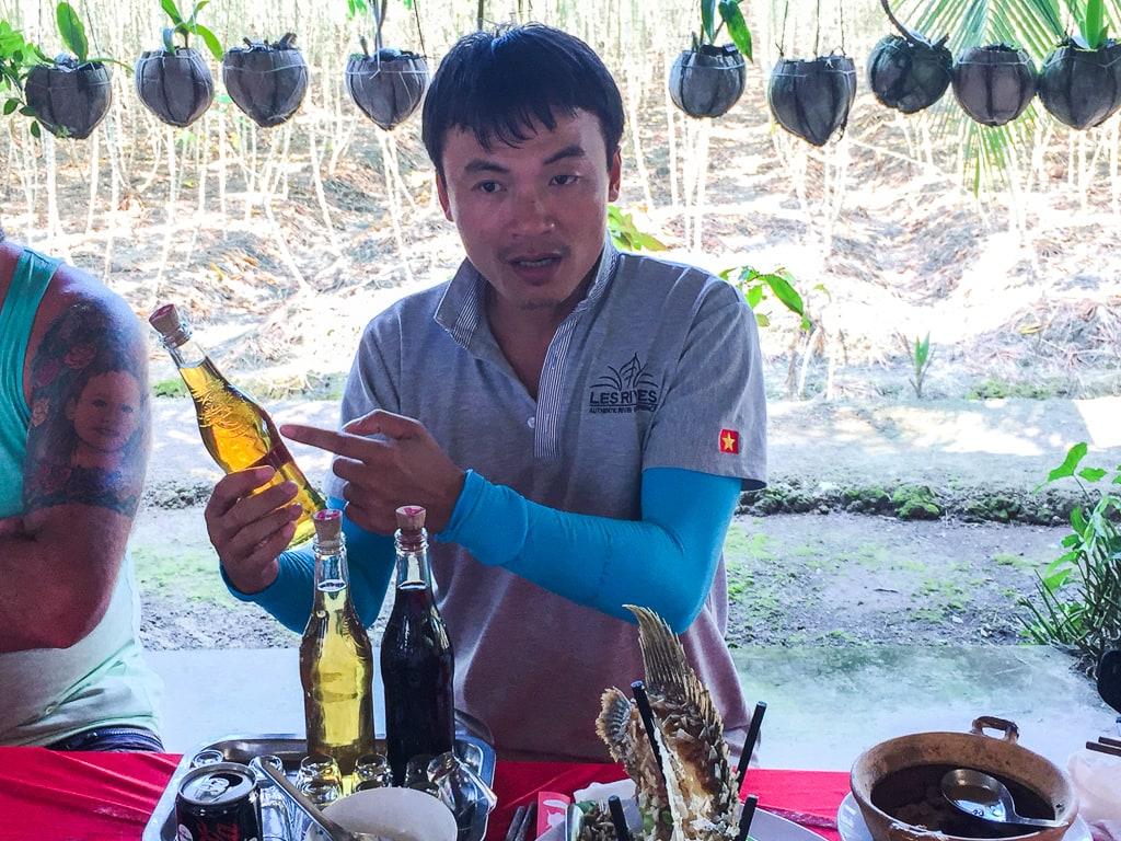 Alcool de riz vietnamien