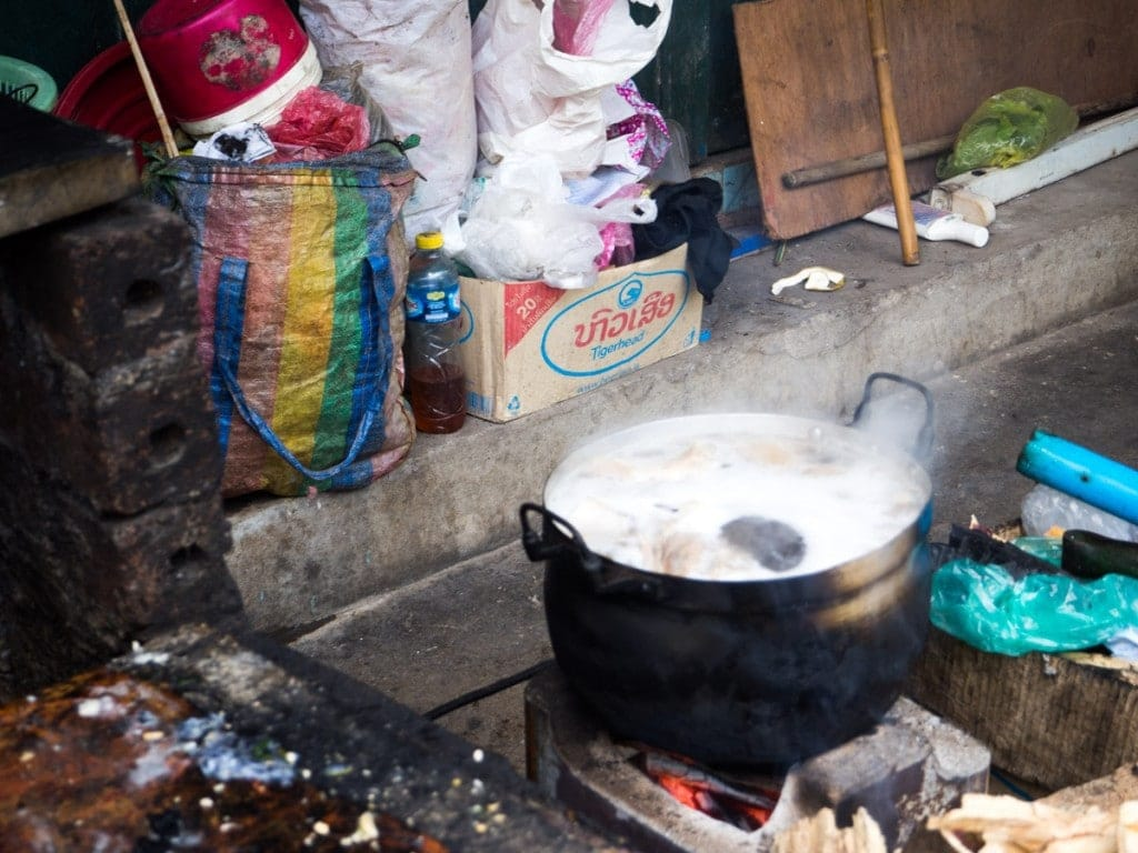 Cuisine de rue à Luang Prabang