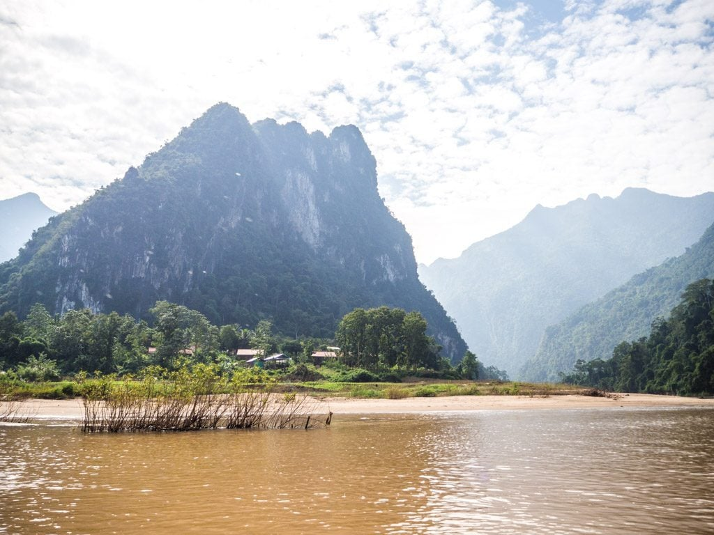 Virage dans la Nam Ou