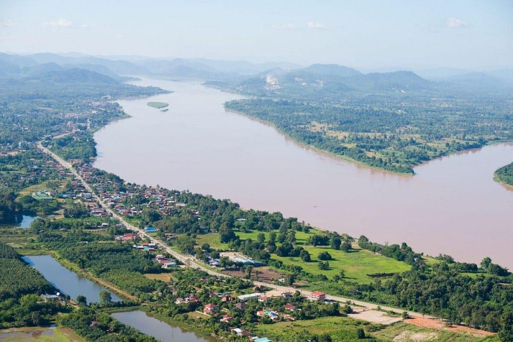 Vue sur le Mékong depuis Nong Khai