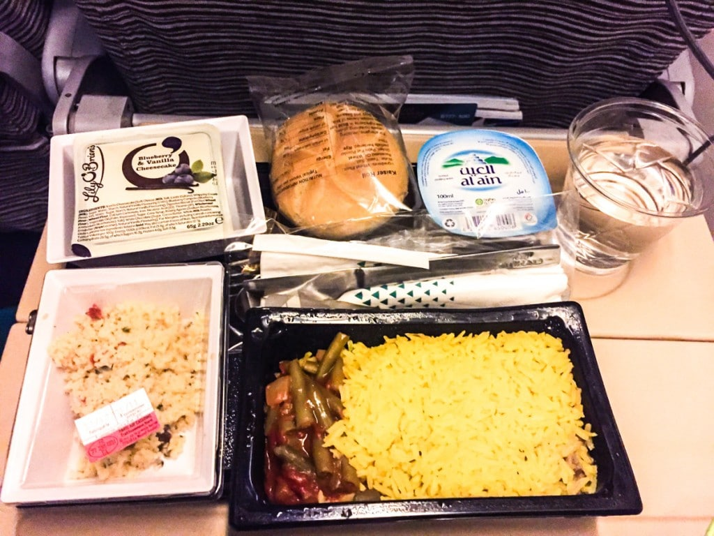 Repas vol Paris - Abou Dhabi