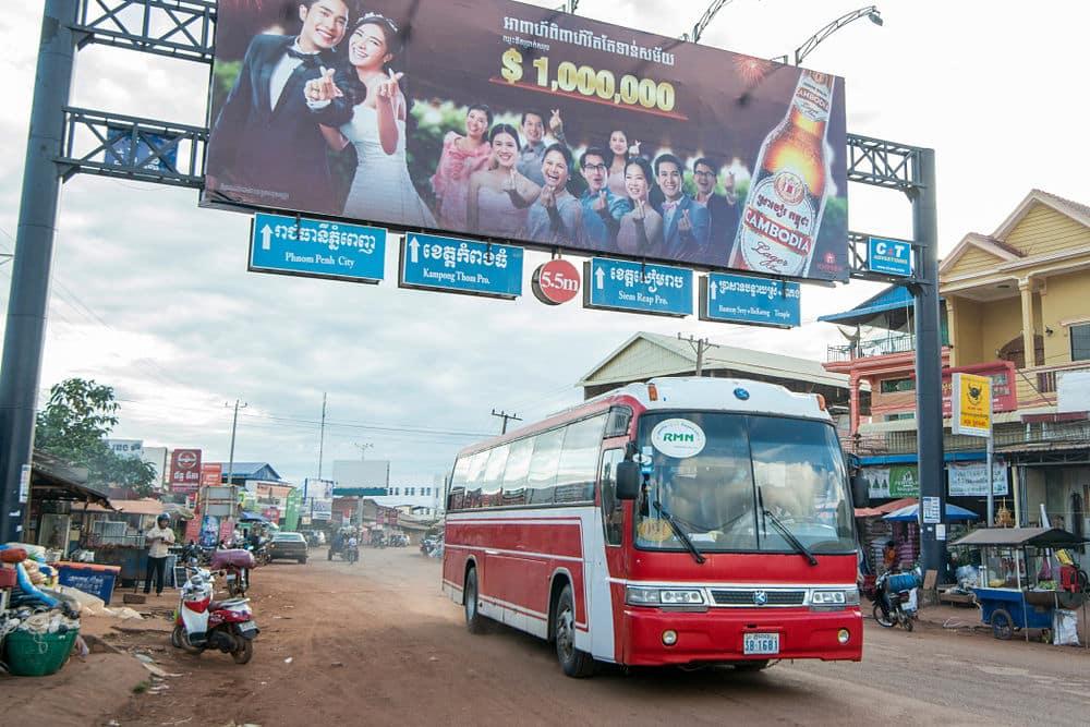 Les lignes de bus au Cambodge