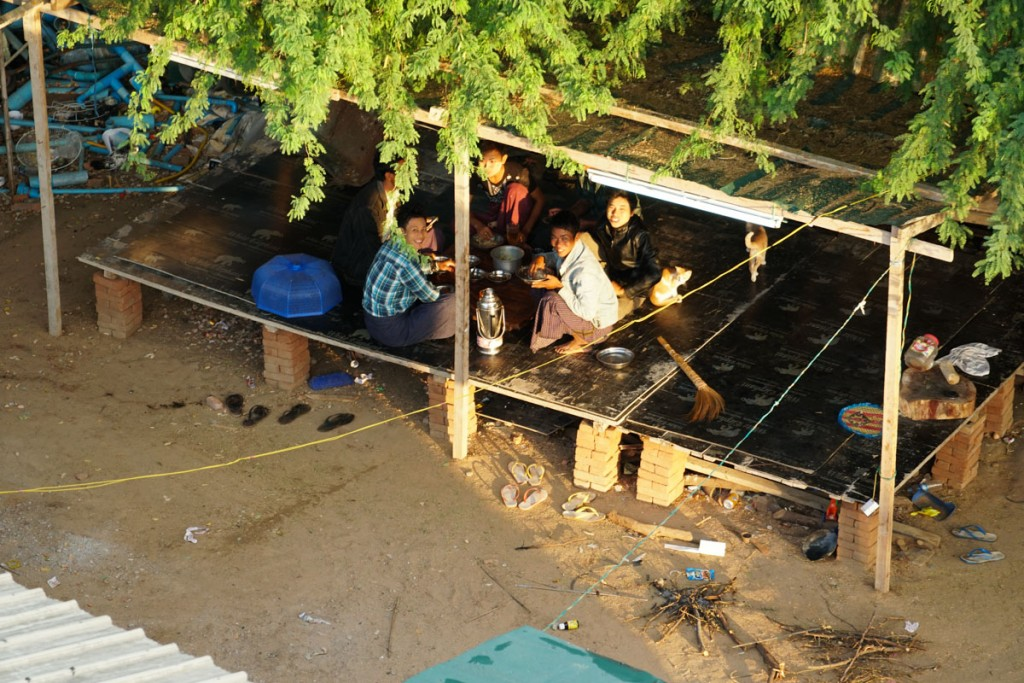 Habitants à Bagan