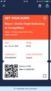 Réservation mobile - vol en montgolfière à Bagan
