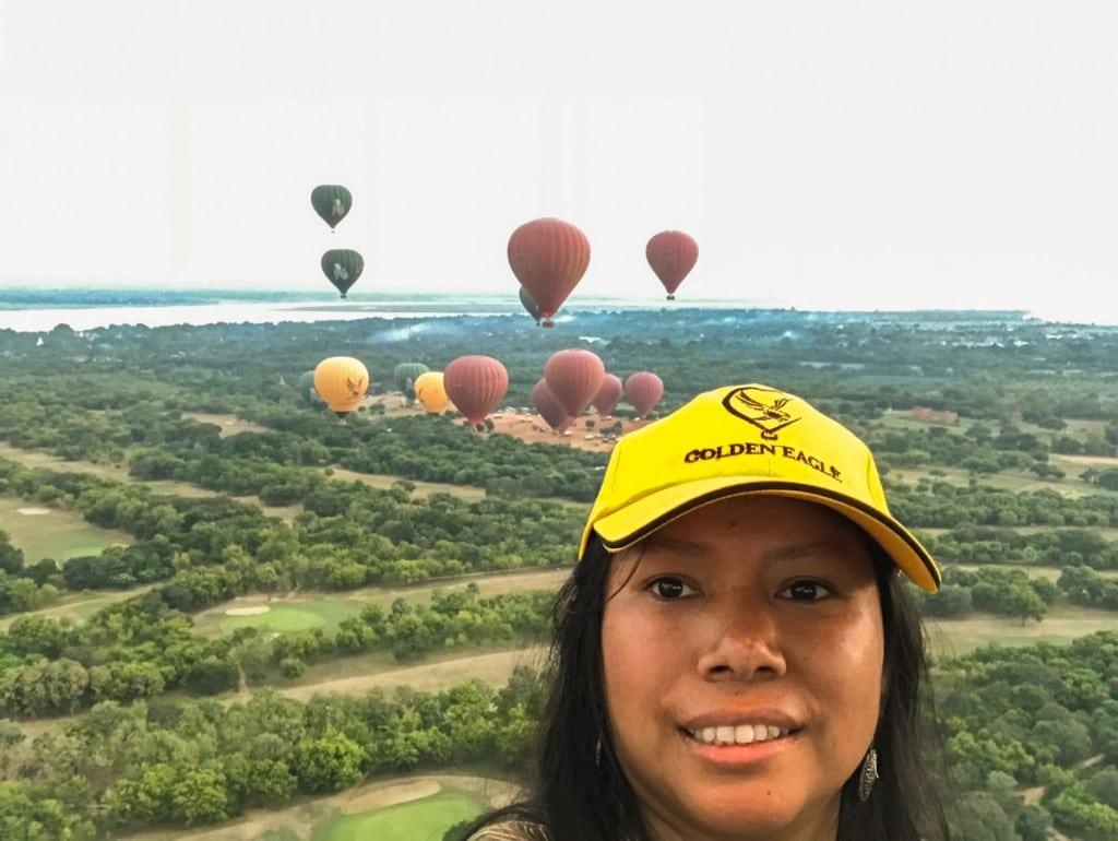 Rêve de mon enfance réaliseé le vol en montgolfière !
