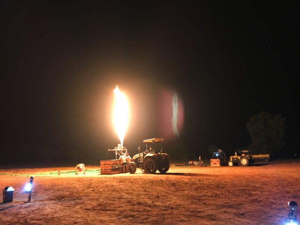 Test de montgolfière à Bagan