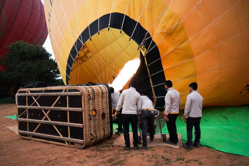 Ventilateur montgolfière à Bagan