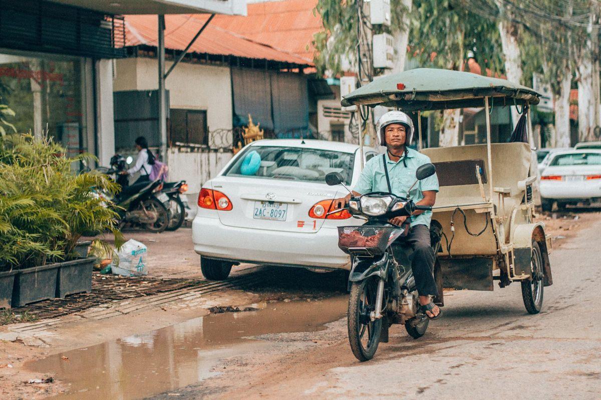 Tuk tuk au Cambodge