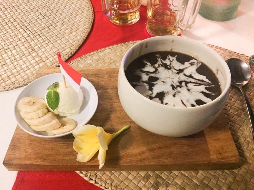Dessert balinais au Nomad Bali restaurant