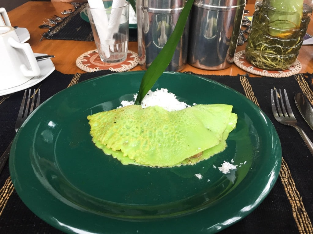 Petit-déjeuner au Balimoon guesthouse