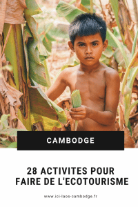 Pin Ecotourisme au Cambodge