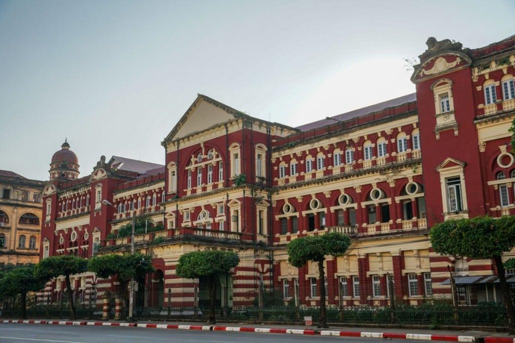 Quartier colonial à Yangon