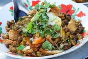 Repas de rue à Yangon