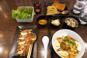 Repas à Yangon