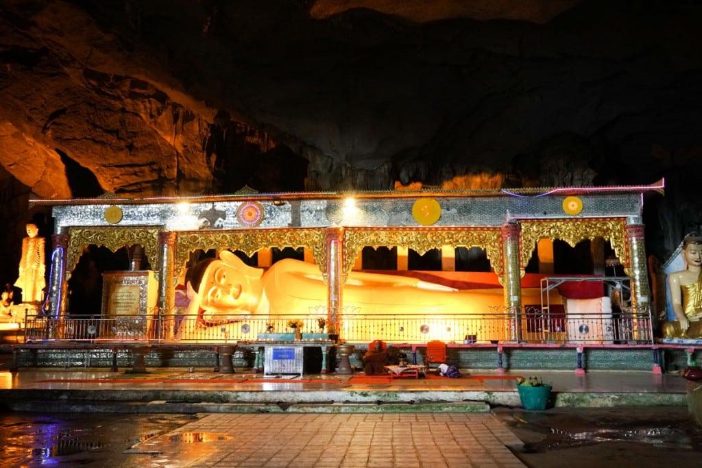 Bouddha grotte de Sadan