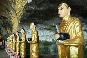 Bouddhas de la grotte Sadan