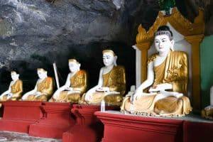 Bouddhas de la grotte Yatae Pyan