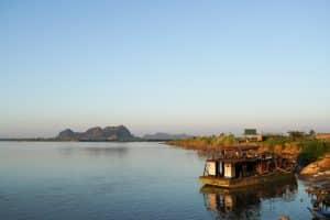 Coucher de soleil à Shweyinhmyaw