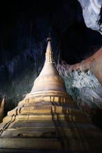 Stupa à la grotte Yatae Pyan