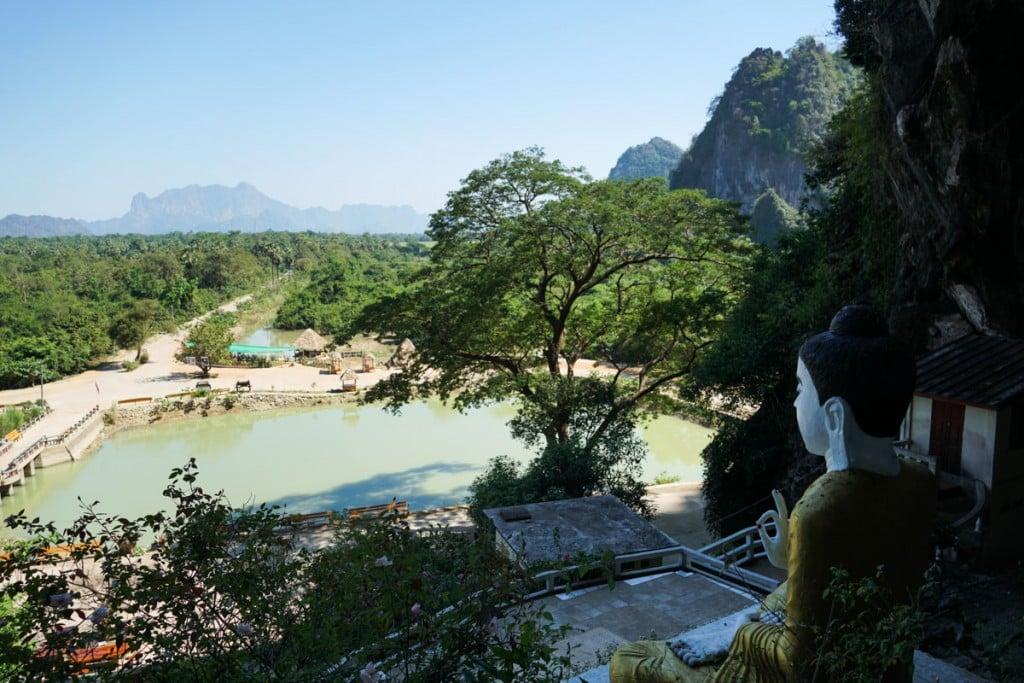 Vue de Grotte Yathae Pyan