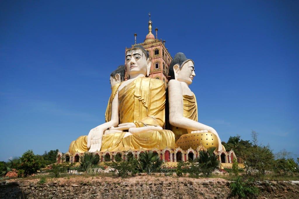 Visiter Ye : Quatre bouddhas à Ko Yin Lay