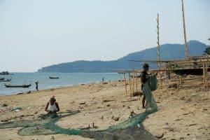 Village de pêcheurs à proximité de Ye