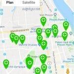 Carte de pharmacie à Phnom Penh