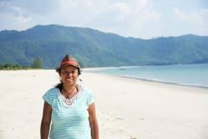 Moi à Enfant à la plage Teyzit beach