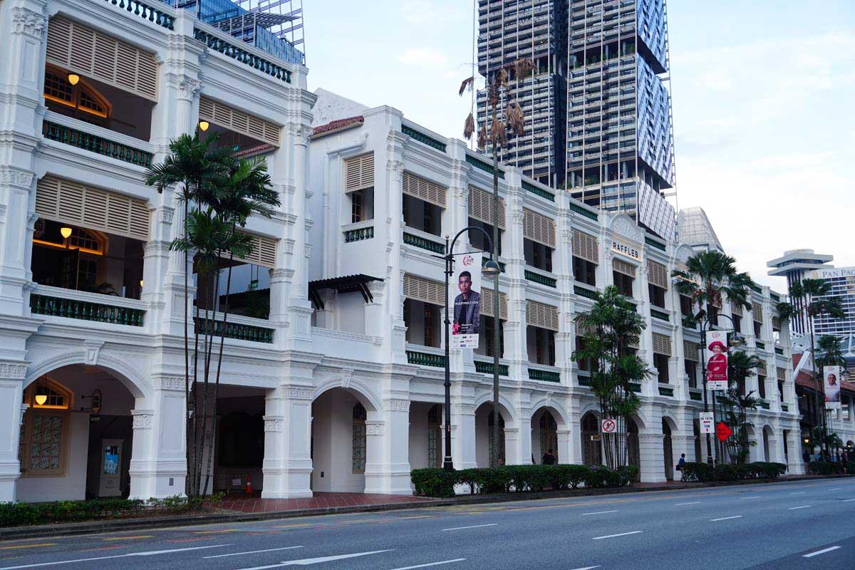 Visiter Singapour: Hôtel Raffles Singapour